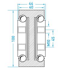 Technische Zeichnung MX DTP 100
