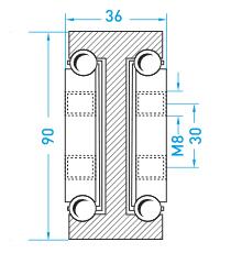 Technische Zeichnung MX DTP 90