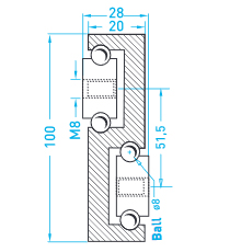 Technische Zeichnung MX S100