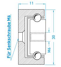Teschnische Zeichnung Teilauszug MX-CP 30 - Miluxor Schienen