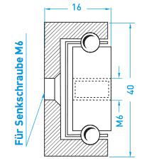 Teschnische Zeichnung Teilauszug MX-CP 40 - Miluxor Schienen