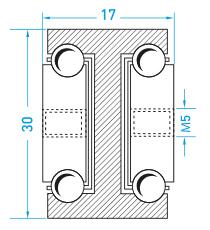 Teschnische Zeichnung Vollauszug MX-DTP 30 - Teleskopschienen Schwerlast Miluxor