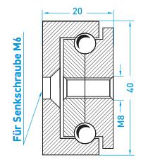 Teschnische Zeichnung Vollauszug MX-ST 40 - Miluxor Schienen